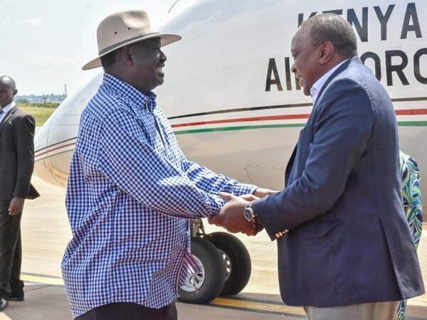 Uhuru Raila handshake